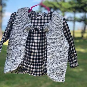Zara black & white gingham blouse Size 18-24mo